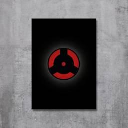 Placa Decorativa Naruto - Mangekyou Sharingan Izuna