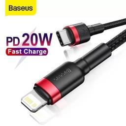 Cabo usb caregador lightning Iphone 20w Baseus reforçado (50cm)