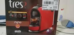 Máquina de café expresso três coracoes mimo 15 bar vermelha