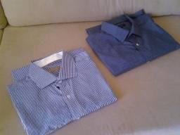 Kit: 2 Camisas Sociais em Excelente Estado