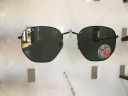 Óculos unissex hexagonal