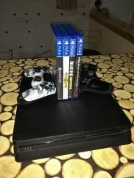 PS4 Playstation 4 slim 500GB 2 controles *completíssimo