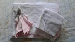 Kit berço simples rosa
