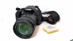 Camera canon eos rebel t5i + lente 18-135 + bateria extra