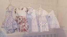 Vestidos de 6 a 9 meses,maio Hering tam P, sandália Pimpolho tam 18