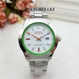 2de87f57ec7 Rlx Oystr Perpet Milga Luxo Automático Relógio Aaa