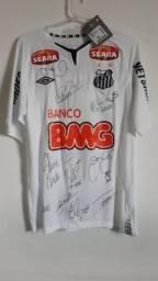 3c8761b148 Camisa Santos f.c. autografada - colecionador