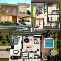 Residência de alto padrão, com o estilo Rústico, localizada no Condomínio Ecoville