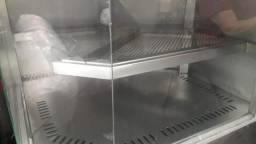Balcão geladeira em inox com expositor