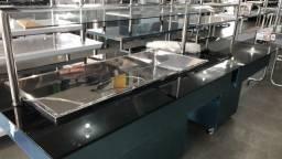 Buffet 8 cubas termico com complemento de pesagem novo pronta entrega - lucas
