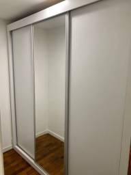 Armário Toque a Campainha   3 Portas de Correr com Espelho Central