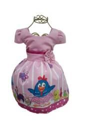 Vestido Temático Infantil Galinha Pintadinha -2anos *modelo Simples
