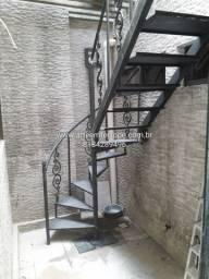 Escada reta e caracol - Arte em Ferro