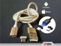Cabo USB com imã e manta de pano