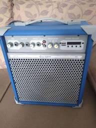 Caixa De Som Amplificada 55w Usb 8 Pol Azul Up8 Ll Áudio<br><br>