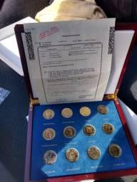 Coleção completa da moeda americanas