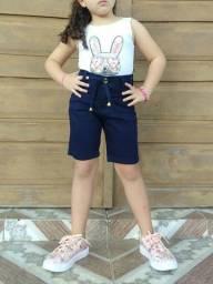 PROMOÇÃO Shortinhos Jeans com Lycra - Tamanhos 08 ao 16 anos