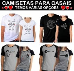 Camisetas para Casal ( Crush Namorados Noivos Casados ) Valores nos detalhes