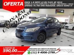 Chevrolet Onix 1.0 Mpfi LS 8v Flex 4p Completo C/ Multimídia + Rodas Único Dono