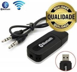 Adaptador de Áudio Bluetooth Para Música Saída Auxiliar P2