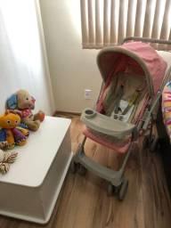 Carrinho bebê Galzerano REVERSIVEL Forro duplo !! Lindo Aceito Cartao