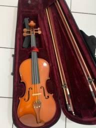 Violino com case, 2 arcos