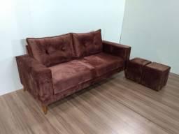 Sofá 2 metros em veludo (produto novo)