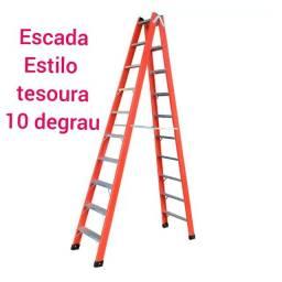 2)Escada estilo tesoura nova