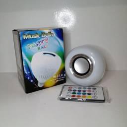 Lâmpada de led Rgb com caixa de som