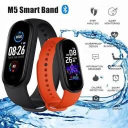 Relógio pulseira inteligente M5 atualizada (vermelha)