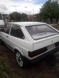 vw/gol cl 1990 carro branco inteiro