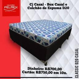 Promoção de Conjunto Casal com Espuma D20 Pelmex