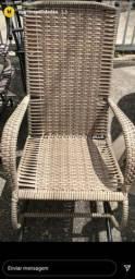 Cadeira de balanço em fibra 3 molas
