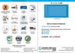 Piscina Fibra 5 x 3 x 1,4 + Filtro + Instalação