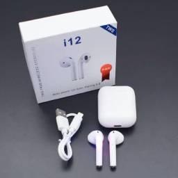 Fone De Ouvido Bluetooth Sem Fio Touch I12 Tws Android E Ios