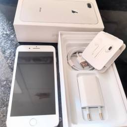 iPhone 8 plus 64 gb completo c/nf 85 %?