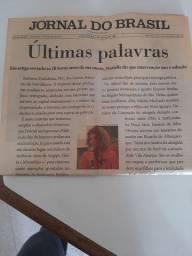 Jornal do Brasil - edição histórica - morte de marielle franco
