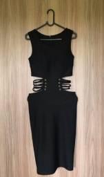 Vestido preto midi tamanho P