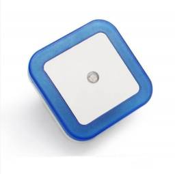 Título do anúncio: Luminária Led Sensor Luz Automático Azul Tomada Bivolt