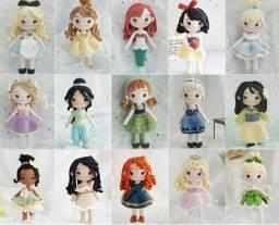 Princesas em amigurumi