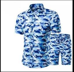 Conjunto Camisa E Calção Masculino