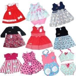 Roupa de Bebê Infantil Menina até 1 ano Kit com 10 Novas