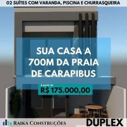 Casas Duplex com vista para o mar - Praia de Carapibus