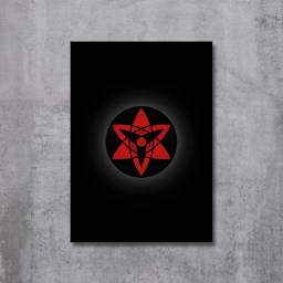 Placa Decorativa Naruto - Mangekyou Sharingan Sasuke (Eternal)