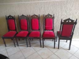 Jogo com 6 cadeiras antigas