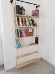 Prateleira para Livros - Barra Cano de Ferro