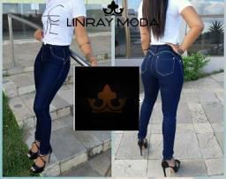 Calça jeans com lycra