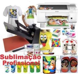 Kit 2x1 de Sublimaçao (Prensa plana + Impressora Sublimatica)