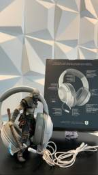 Headset Gamer Razer Kraken X, Mercury White