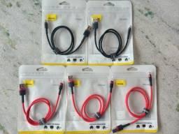 Cabos USB Lightning Baseus Super Resistentes para iPhone *50cm